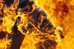 Пожар в ходе пит-стопа Йоса Ферстаппена, Benetton B194 Ford