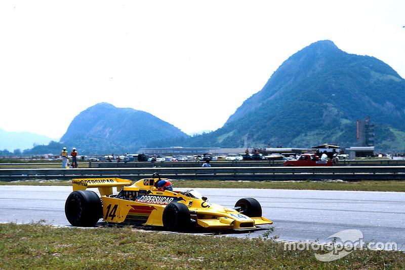 Há exatos 40 anos, Emerson Fittipaldi conquistou um pódio histórico na F1 com o segundo lugar no GP do Brasil, no Rio, a bordo do Copersucar F5A.