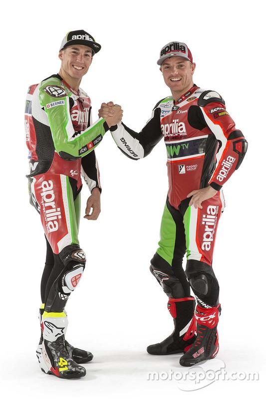 Aleix Espargaro, Aprilia Racing Team Gresini; Sam Lowes, Aprilia Racing Team Gresini