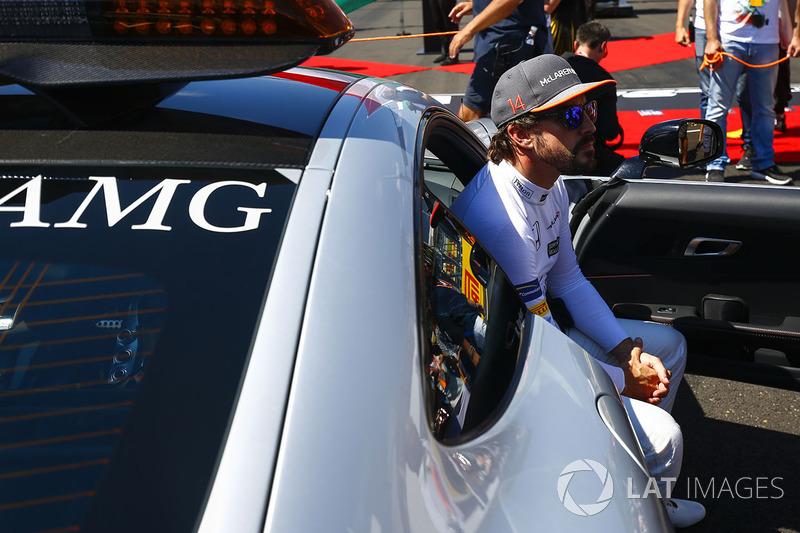 Fernando Alonso, McLaren, in the Safety Car