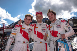 #5 Audi Sport Team WRT Audi R8: Dries Vanthoor, #25 Audi Sport Team Sainteloc Racing Audi R8 LMS: Christopher Haase, #2 Audi Sport Team WRT Audi R8 LMS: Frédéric Vervisch