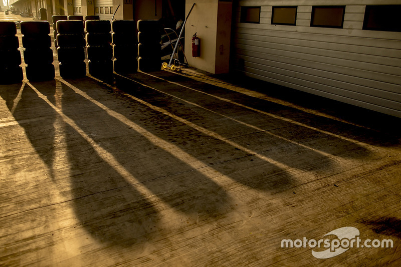 Pirelli tyres at dawn
