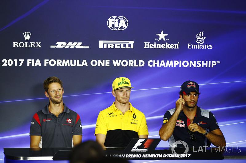 Romain Grosjean, Haas F1 Team, Nico Hulkenberg, Renault Sport F1 Team, Carlos Sainz Jr., Scuderia Toro Rosso
