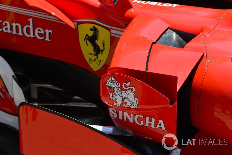 Ferrari SF70H: Seitenkasten mit Luftleitblechen