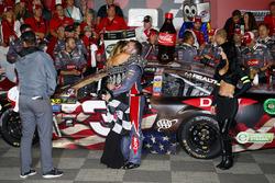 Race winner Austin Dillon, Richard Childress Racing Chevrolet and fiancée, Whitney Ward