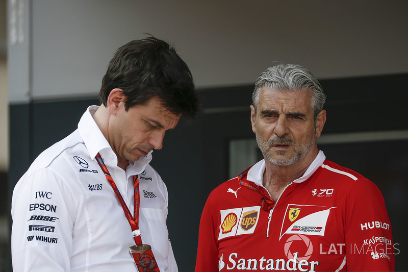 Toto Wolff y Maurizio Arrivabene