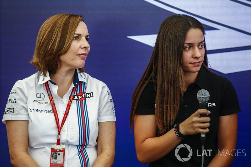 Claire Williams, Subdirector del equipo, Williams, Marta García, Renault Sport F1 Team Sport Academy, en la Conferencia de prensa Motorsport