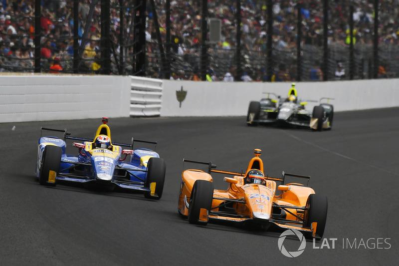Fernando Alonso, Andretti Autosport Honda, Alexander Rossi, Herta - Andretti Autosport Honda