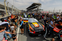 #2 Black Falcon Mercedes AMG GT3: Khaled Al Qubaisi, Jeroen Bleekemolen, Patrick Assenheimer, Manuel Metzger in the starting grid
