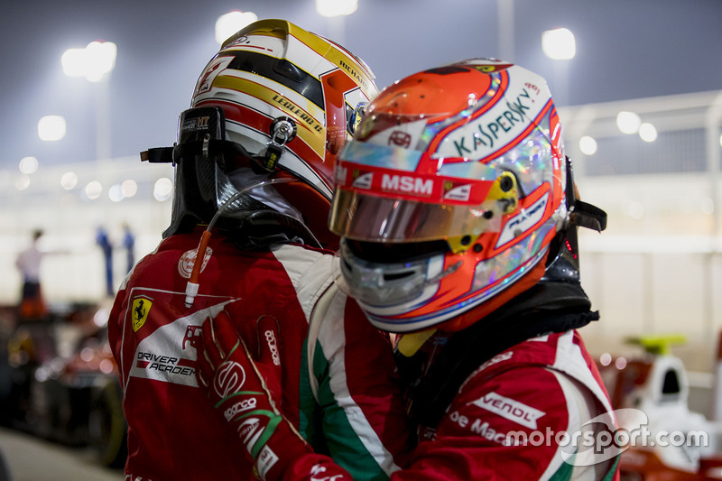 Polesitter Charles Leclerc, PREMA Racing, second place Antonio Fuoco, PREMA Racing