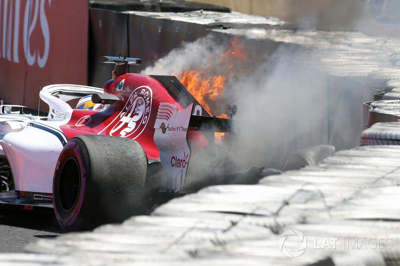 Crash de Marcus Ericsson, Alfa Romeo Sauber C37