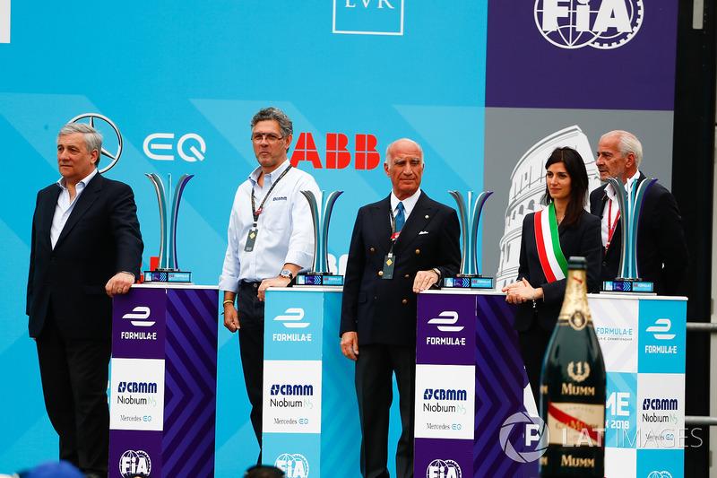 Trofei dell'ePrix di Roma sul podio