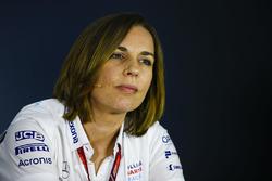 Claire Williams, Takım Patronu Vekili, Williams Martini Racing, basın toplantısında
