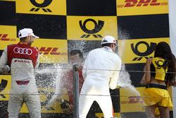 Podio: ganador de la carrera René Rast, Audi Sport Team Rosberg, tercer puesto Paul Di Resta, Mercedes-AMG Team HWA