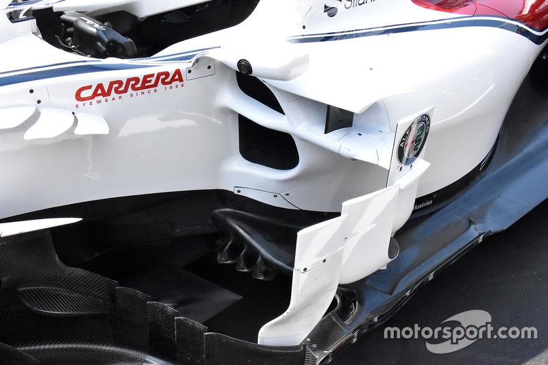 Sauber C37 detail side