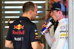 Max Verstappen, Red Bull Racing and Gianpiero Lambiase, Red Bull Racing Race Engineer