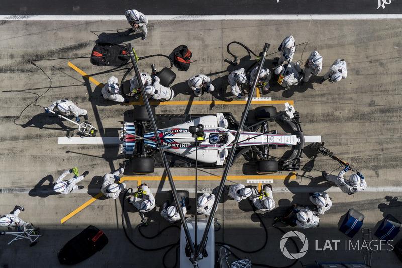 Sergey Sirotkin, Williams FW41, au stand