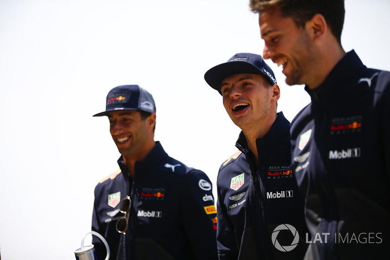 Daniel Ricciardo, Red Bull Racing, and Max Verstappen, Red Bull Racing