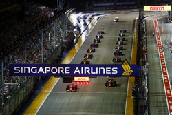View of the start of the race