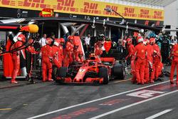 Kimi Raikkonen, Ferrari SF71H pit stop
