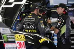 Jimmie Johnson, Hendrick Motorsports, Chevrolet Camaro Lowe's for Pros Chad Knaus