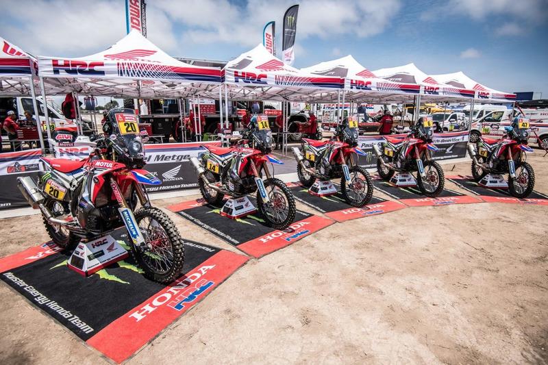 Todas las motos del Monster Energy Honda Team