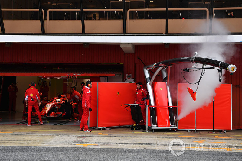 Smoke from the Ferrari garage