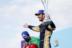 Jean-Eric Vergne, Techeetah, celebrates on the podium with Lucas di Grassi, Audi Sport ABT Schaeffler