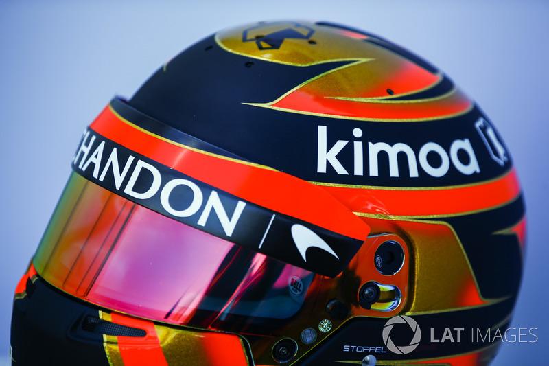 Stoffel Vandoorne'un kaskı, McLaren