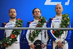 Podio LMGTE Pro: al secondo posto Richard Lietz, Gianmaria Bruni, Frédéric Makowiecki, Porsche GT Team