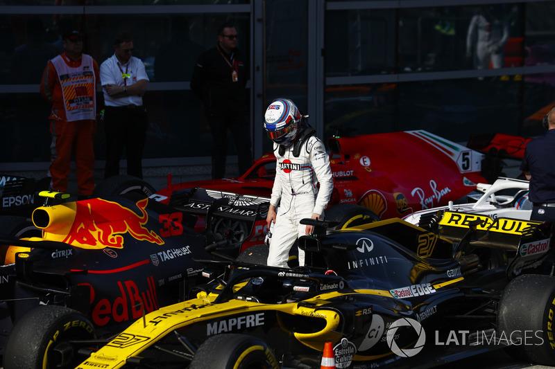 Sergey Sirotkin, Williams Racing, dans le Parc Fermé