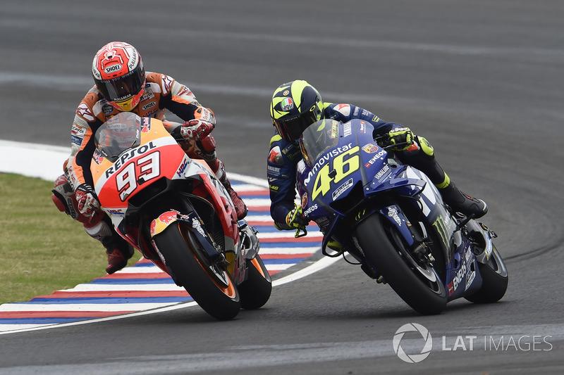 Marc Márquez et Valentino Rossi
