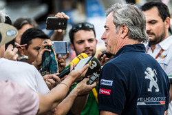 Carlos Sainz, Peugeot Sport with the media