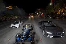 Sam Bird, DS Virgin Racing, vor Mitch Evans, Jaguar Racing Jaguar I-Pace SUV concept car;. Antonio F