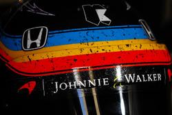 The helmet of Fernando Alonso, Andretti Autosport Honda