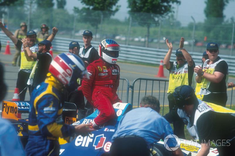 Yarış galibi Jean Alesi, Ferrari 412T2
