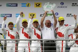 Podium: Wolfgang Land, Team principal Audi Sport Team Land-Motorsport and #29 Audi Sport Team Land-Motorsport, Audi R8 LMS: Christopher Mies, Connor De Phillippi, Markus Winkelhock, Kelvin van der Linde