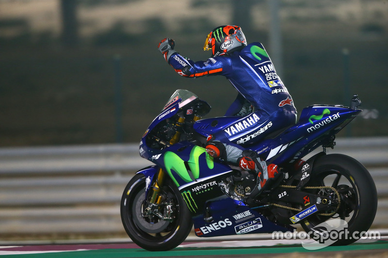 Maverick Vinales, Yamaha Factory Racing memenangi MotoGP Qatar 2017