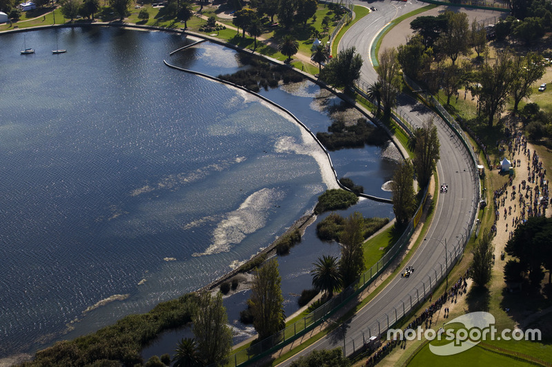Albert Park und Rennen aus der Luft
