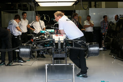 Mercedes-Benz F1 W08  in the garage