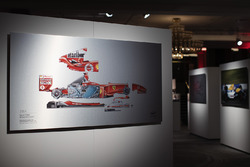A Giorgio Piola technical drawing of Michael Schumacher's 2004 Ferrari