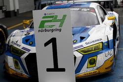 Race winner #5 Phoenix Racing, Audi R8 LMS: Mike Rockenfeller, Nicolay Møller Madsen, Dennis Busch