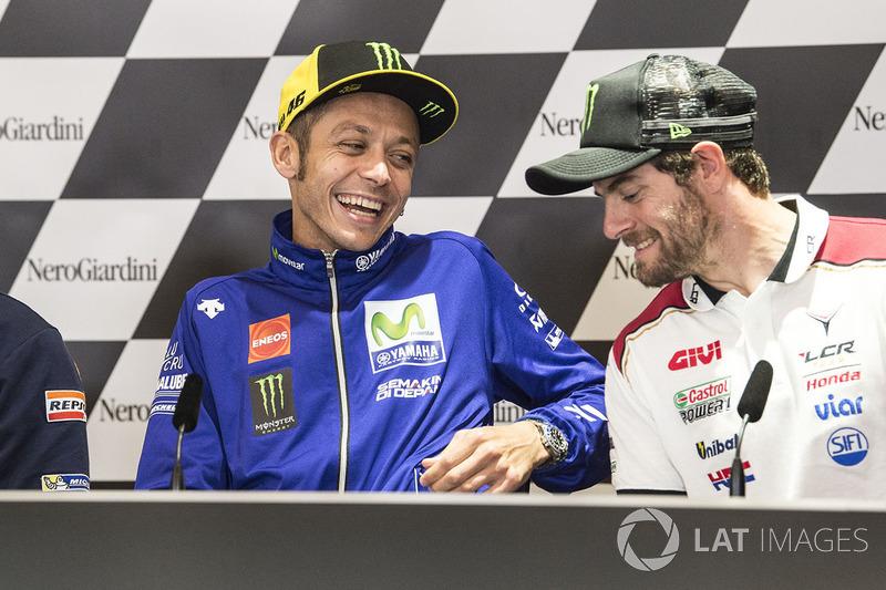 Press conference: Valentino Rossi, Yamaha Factory Racing, Cal Crutchlow, Team LCR Honda