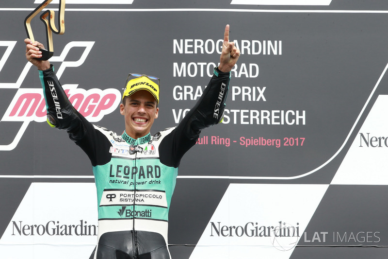 Podium: ganador, Joan Mir, Leopard Racing
