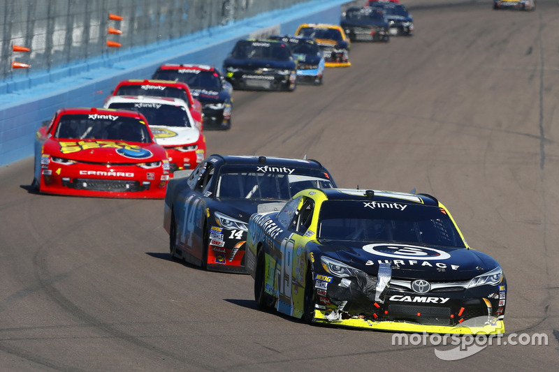 Matt Tifft, Joe Gibbs Racing, Toyota; J.J. Yeley, TriStar Motorsports, Toyota