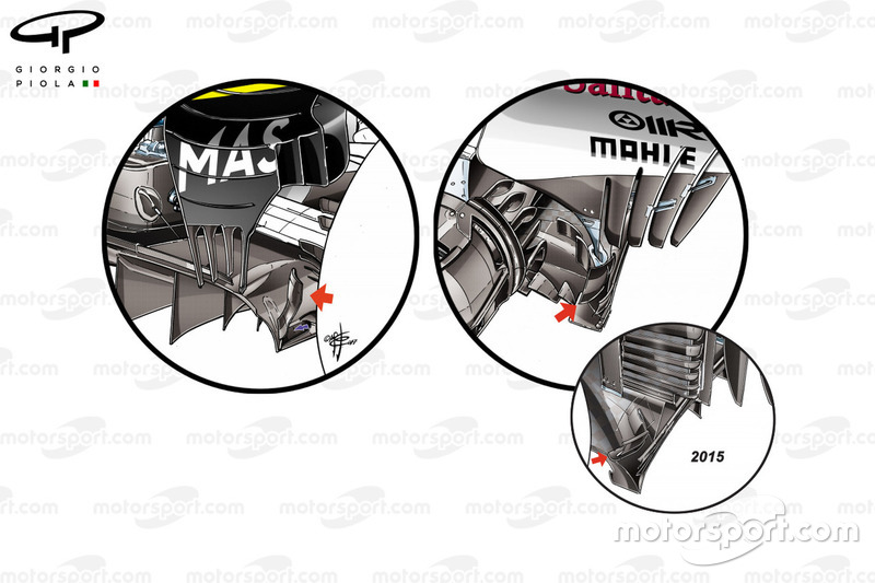 Ferrari vs. Williams: Diffusor