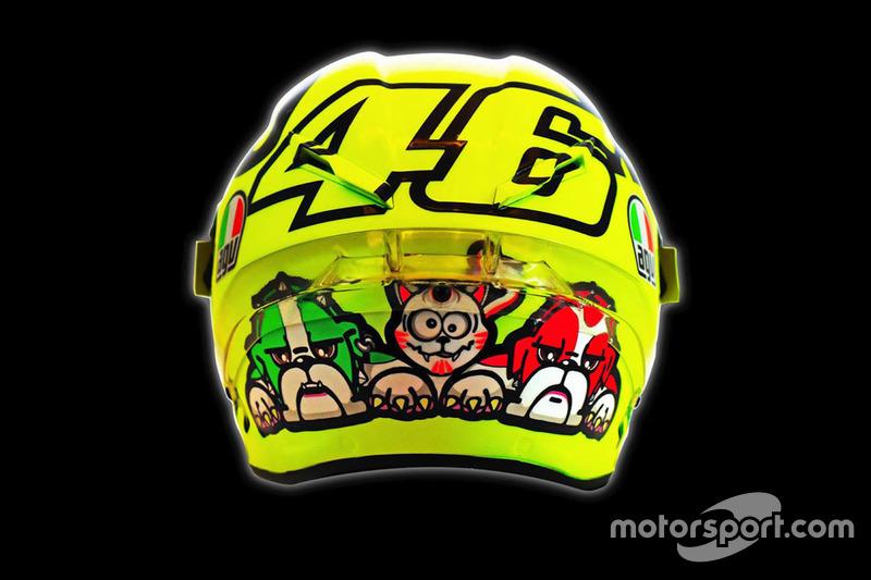 New helmet of Valentino Rossi, Yamaha Factory Racing