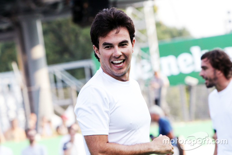 Sergio Perez, Sahara Force India F1 at the charity 5-a-side football match
