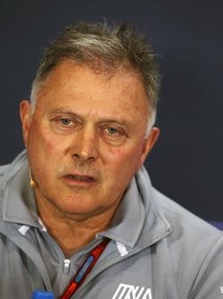 Dave Ryan, Manor Racing Racing Director en la Conferencia de prensa FIA