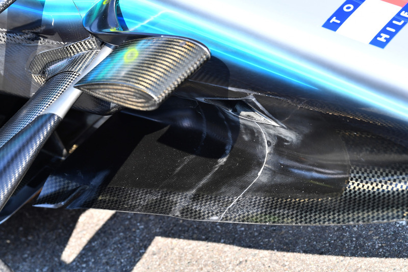 Mercedes AMG F1 W09 detalle de la nariz